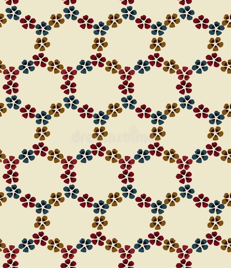 Japanse Bloem Ring Seamless Pattern royalty-vrije illustratie
