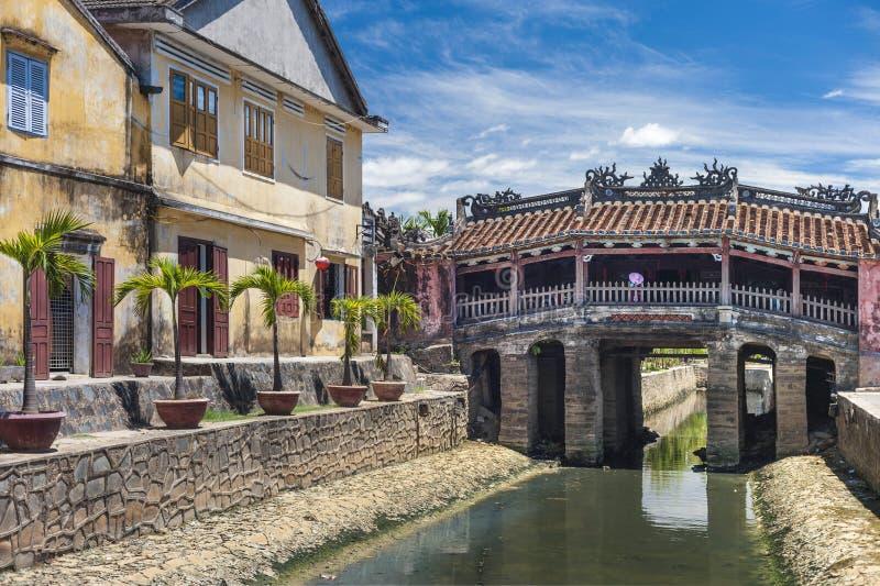 Japanse Brug in Hoi vietnam royalty-vrije stock foto