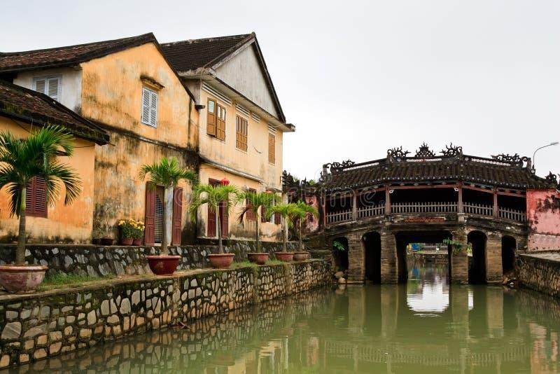 Japanse brug in Hoian royalty-vrije stock fotografie