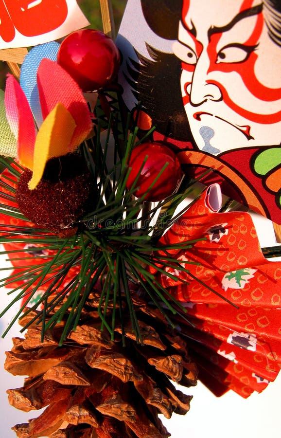 Japanse de winterdecoratie royalty-vrije stock afbeeldingen
