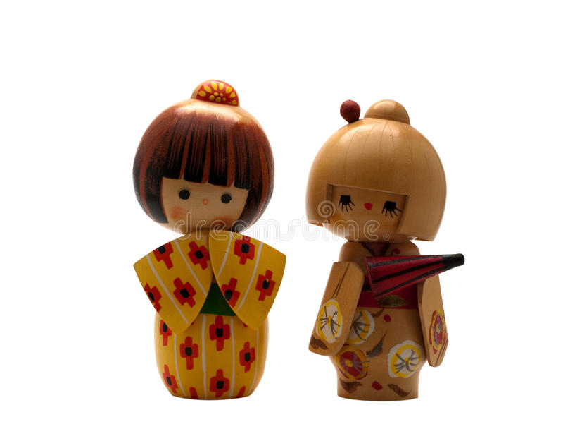 Japanse Doll Kokeshi stock afbeelding