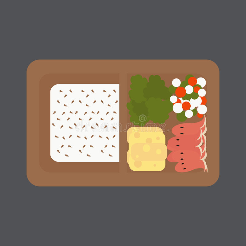 Japanse dooslunch stock illustratie