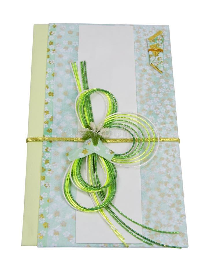 Japanse feestelijke envelop stock afbeeldingen
