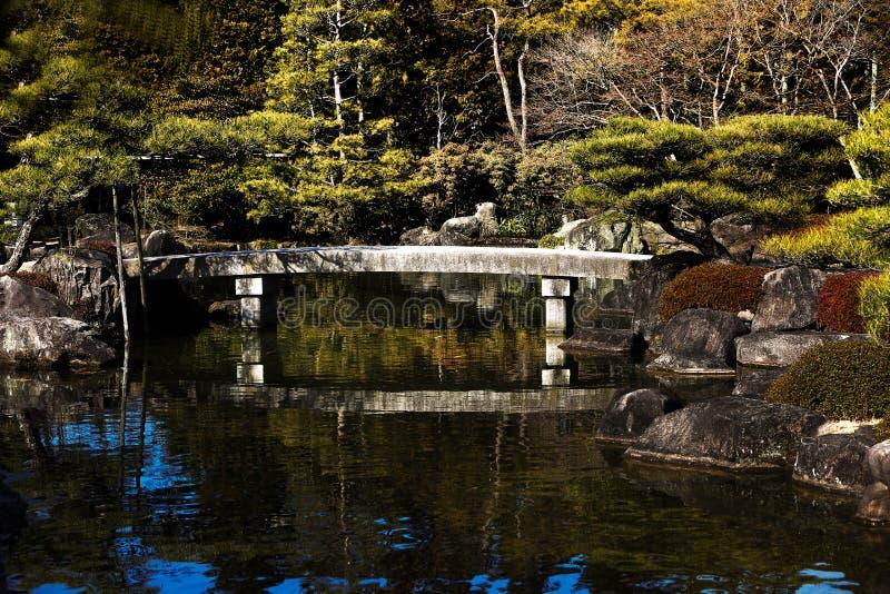 Japanse gardennihon teien royalty-vrije stock afbeelding