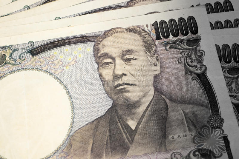 Japanse geldbankbiljetten royalty-vrije stock foto's
