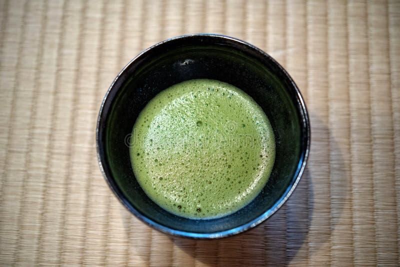 Japanse Groene Matcha-Thee stock afbeelding