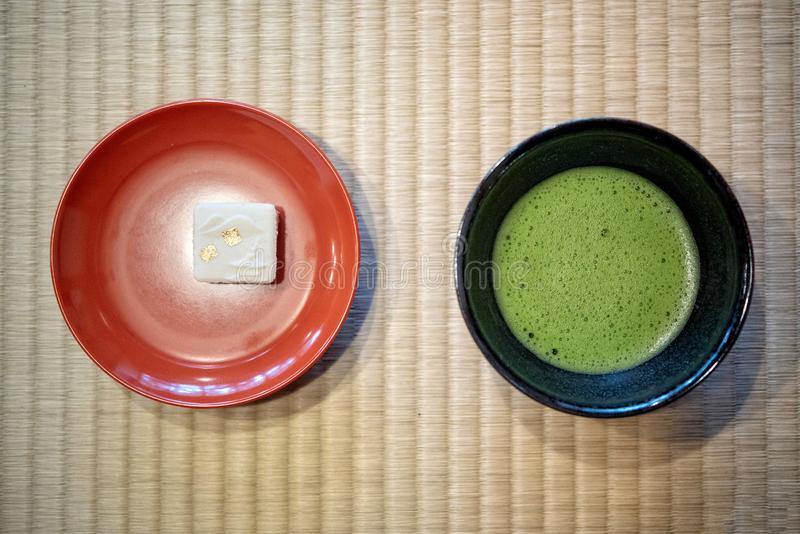 Japanse Groene Matcha-Thee stock fotografie