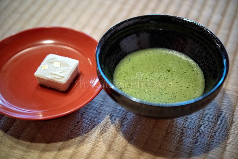 Japanse Groene Matcha-Thee royalty-vrije stock foto