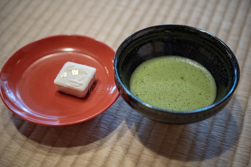 Japanse Groene Matcha-Thee royalty-vrije stock afbeelding