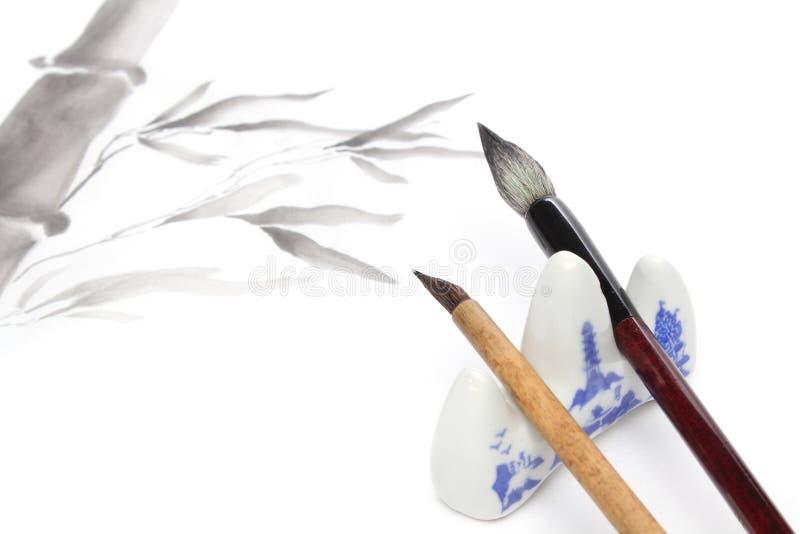Japanse het schilderen elementen royalty-vrije stock foto's