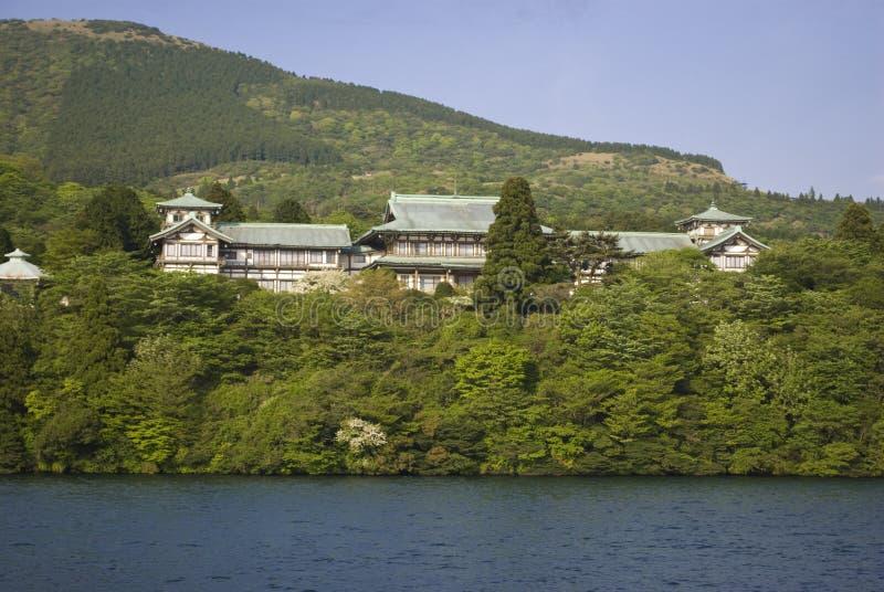 Japanse Huis en tuin royalty-vrije stock foto