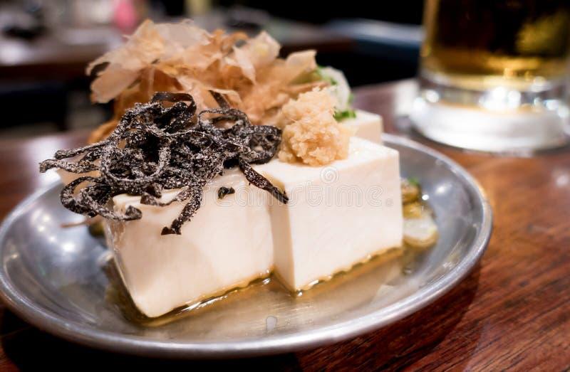 Japanse Izakaya Tofu Salad. Snack royalty free stock photo