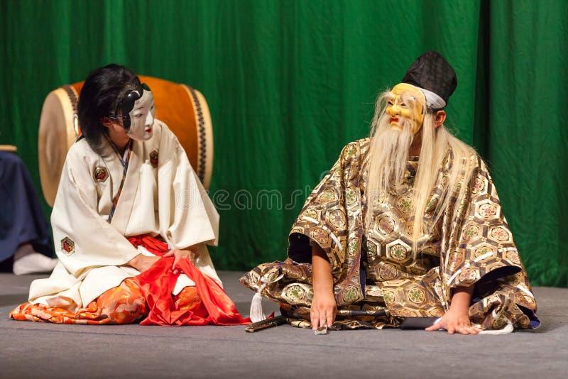 Japanse kabukiactoren stock afbeelding