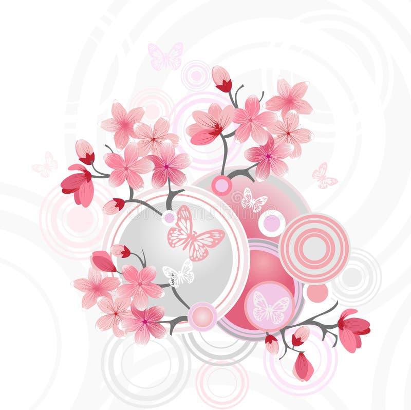 Japanse kersenbloesem vector illustratie