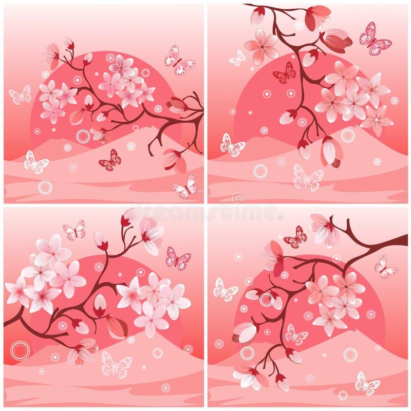 Japanse kersenboom vector illustratie