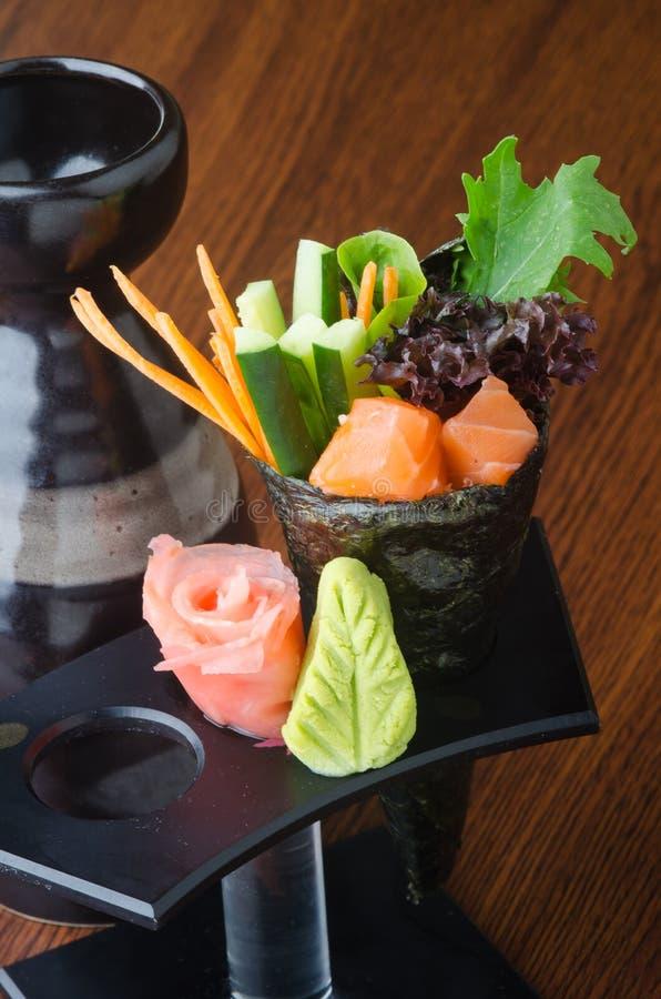 Japanse keuken handbroodje op de achtergrond royalty-vrije stock foto