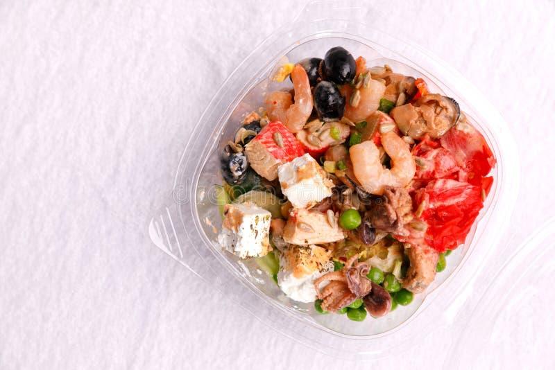 Japanse keuken, voedsel op een witte achtergrond stock fotografie