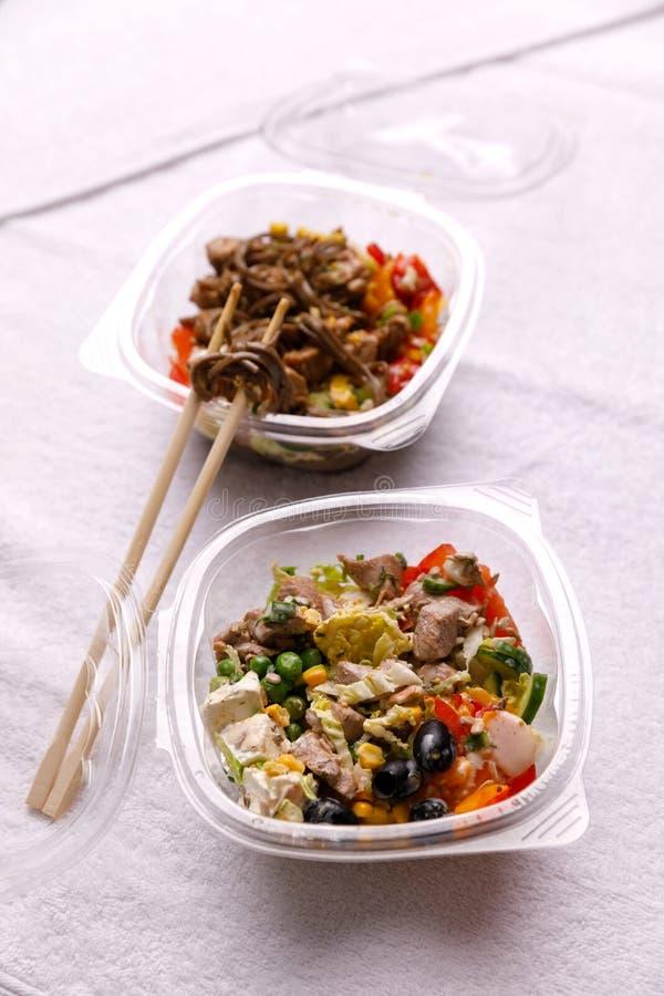 Japanse keuken, voedsel op een witte achtergrond stock foto