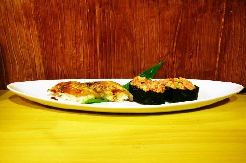Japanse keukensushi royalty-vrije stock afbeelding