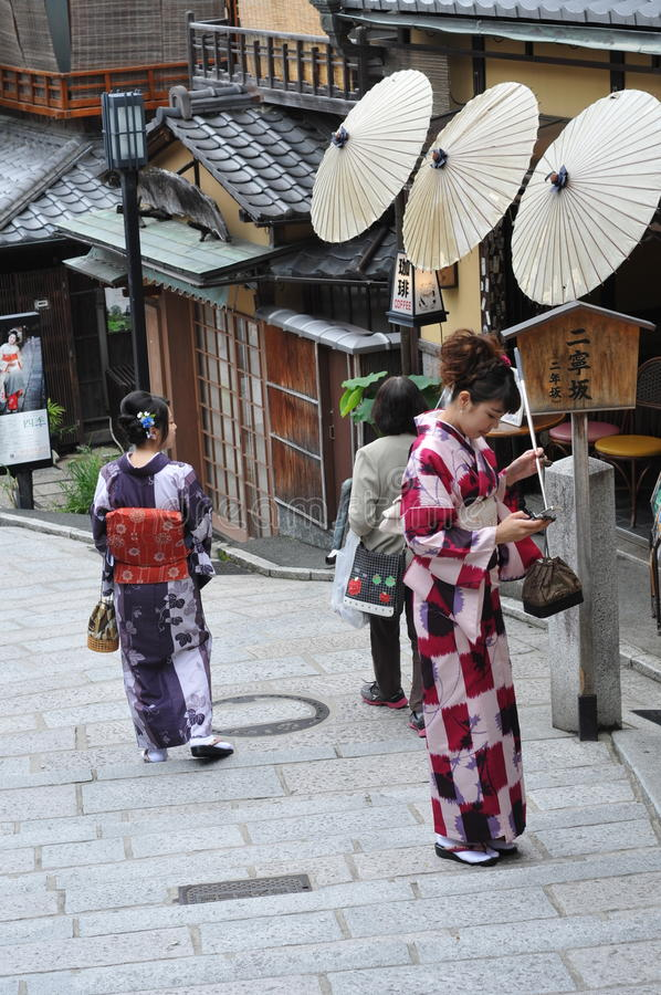 Japanse kimono stock fotografie