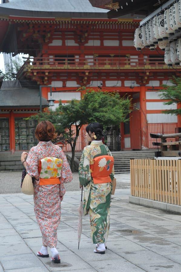 Japanse Kimonodame royalty-vrije stock foto's