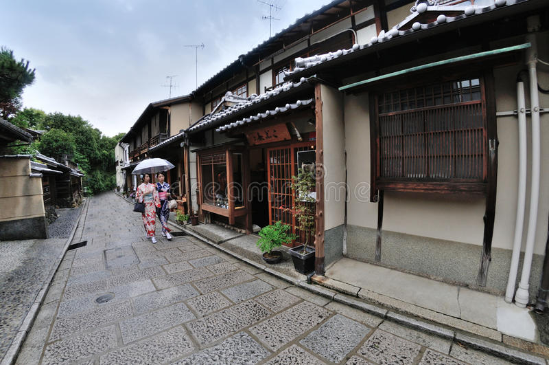 Japanse Kimonogeisha stock afbeeldingen