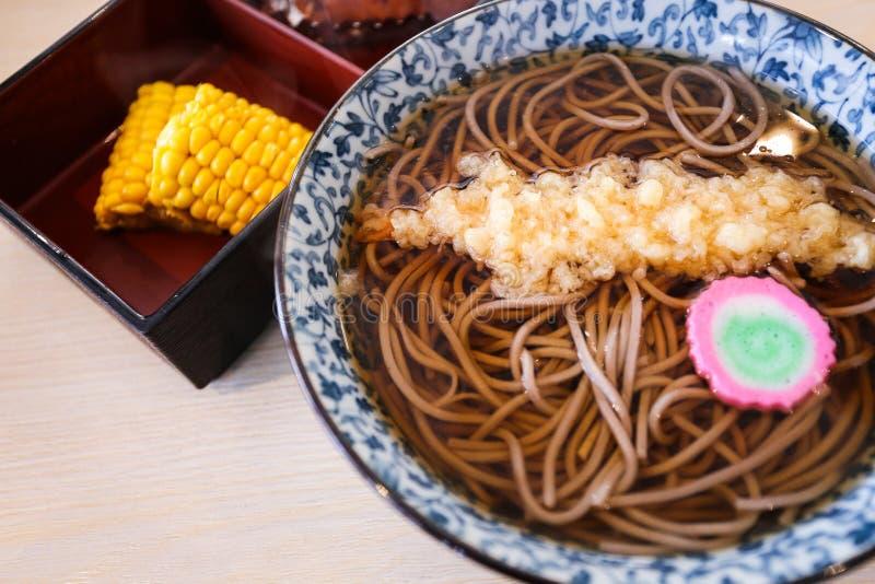 Japanse Koude Soba stock afbeelding