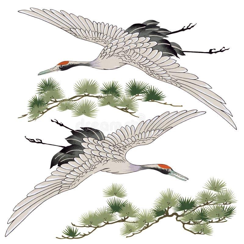 Japanse kraan vector illustratie