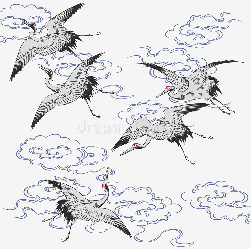 Japanse kraan stock illustratie