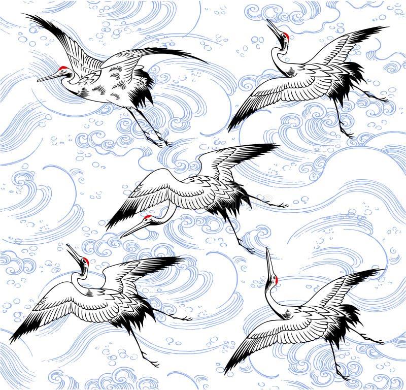 Japanse kraan royalty-vrije illustratie