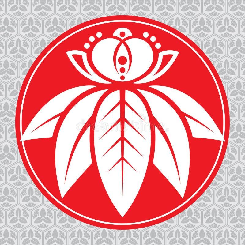 Japanse lotusbloem vector illustratie