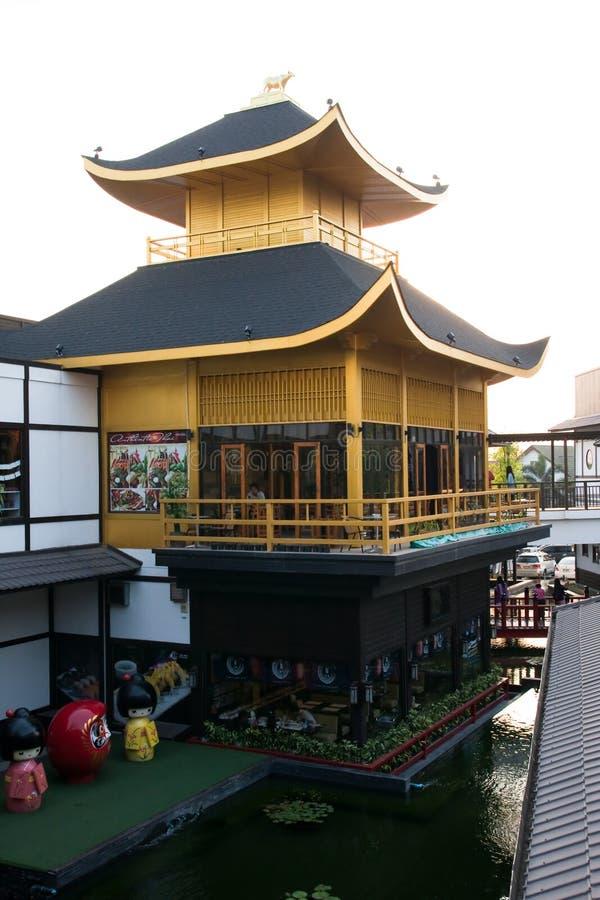 Japanse mooie architectuur stock afbeeldingen