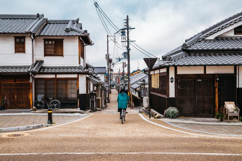 Japanse oude stad Imaicho in Nara, Japan stock afbeelding