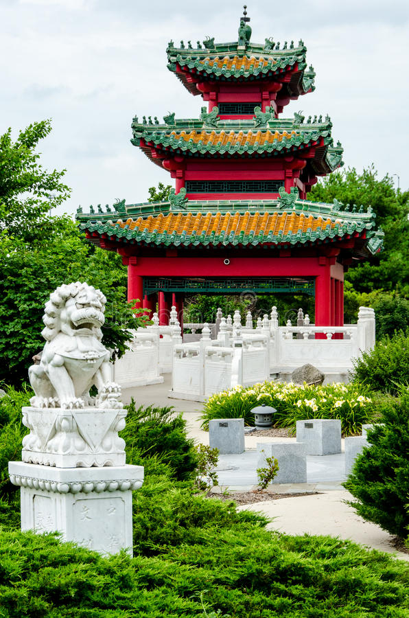 Japanse Pagode Zen Garden royalty-vrije stock afbeelding