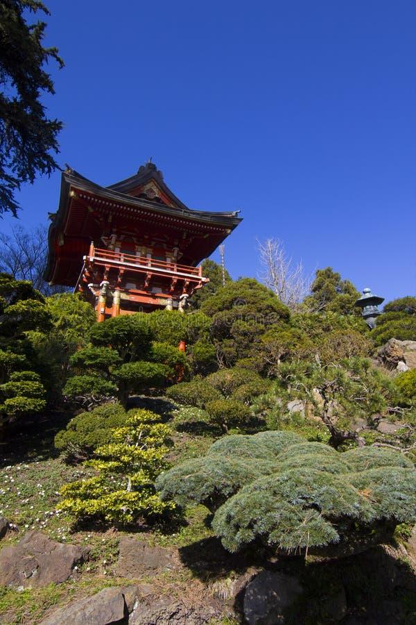 Japanse Pagodetuin royalty-vrije stock afbeelding