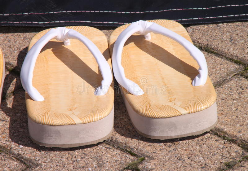 Japanse pantoffels stock fotografie