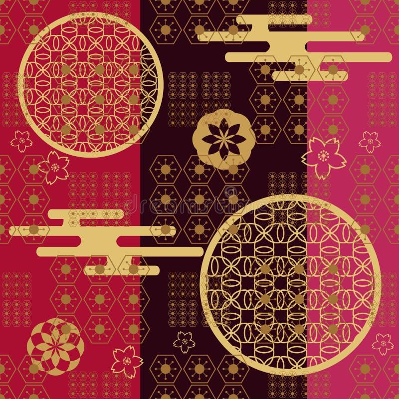 Japanse pattern476 vector illustratie