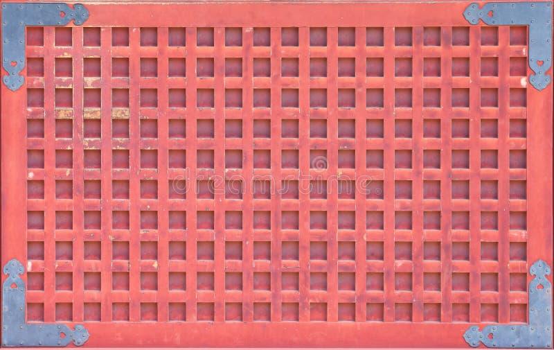 Japanse rode tempelmuur stock afbeeldingen