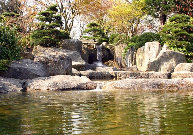 Japanse Rotstuin stock afbeelding