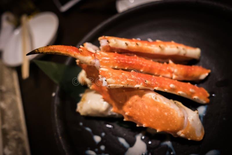 Japanse schotel taraba-Gani, Rode Koning Crab stock afbeelding