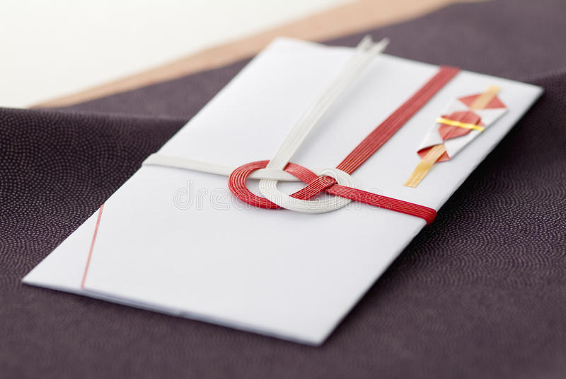 Japanse speciale envelop royalty-vrije stock afbeelding
