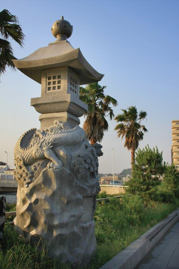Japanse steenlantaarn royalty-vrije stock afbeeldingen