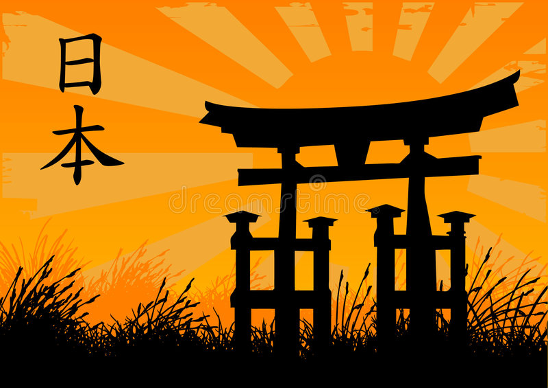 Japanse stijl royalty-vrije illustratie