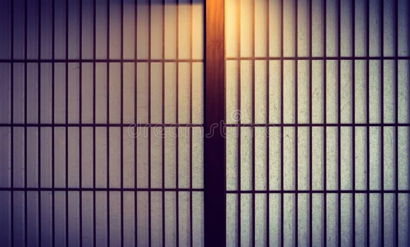 Japanse stijlschuifdeur stock foto's