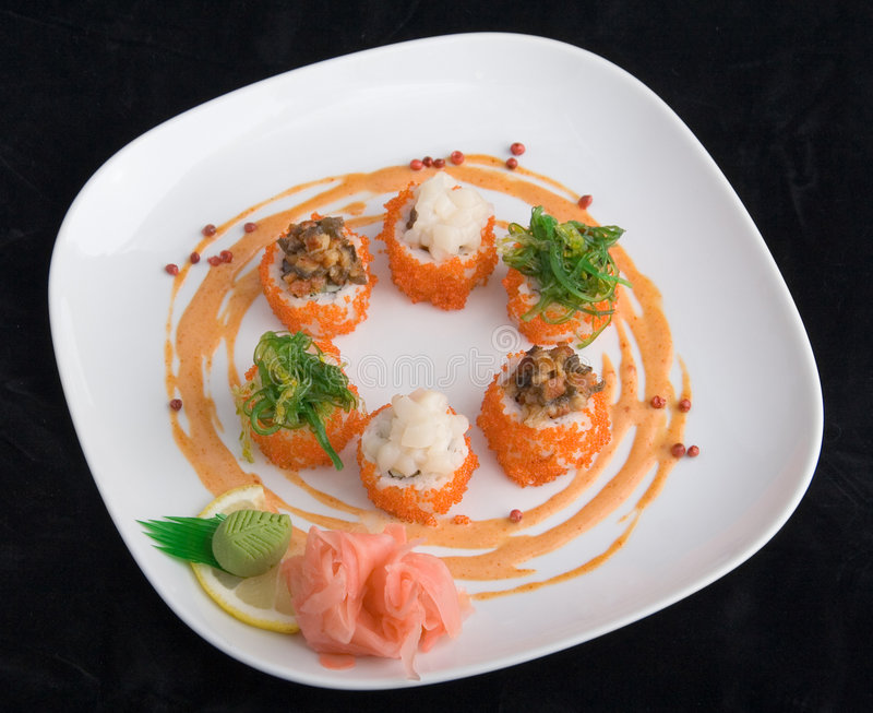 Japanse sushi stock afbeelding