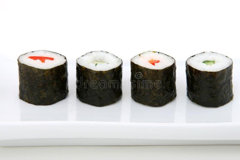 Japanse sushizeevruchten stock foto's