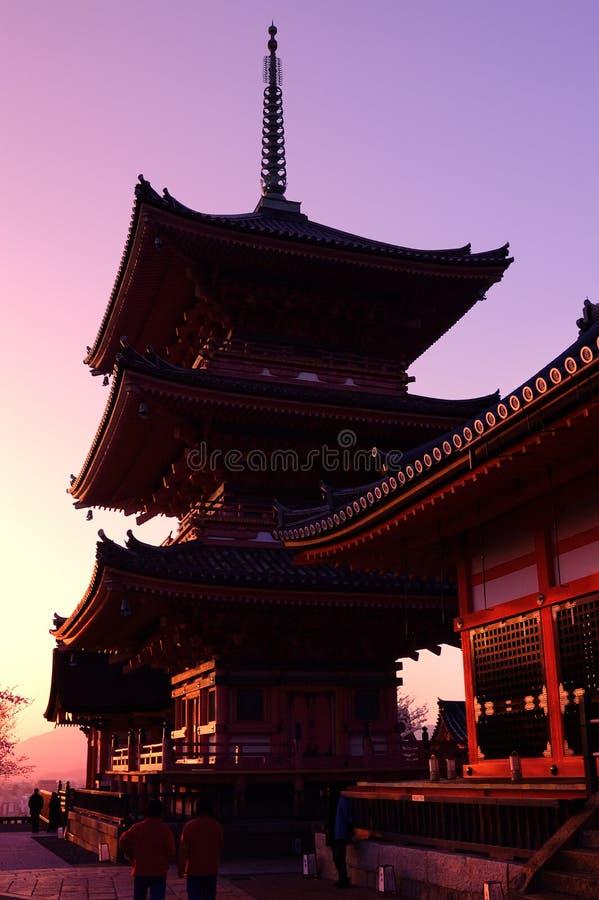 Japanse Tempel (kiyomizu-Dera) royalty-vrije stock afbeeldingen