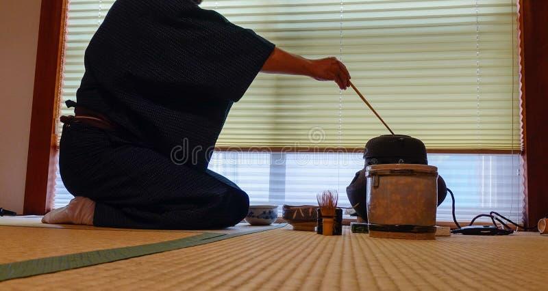Japanse theeceremonie royalty-vrije stock afbeelding