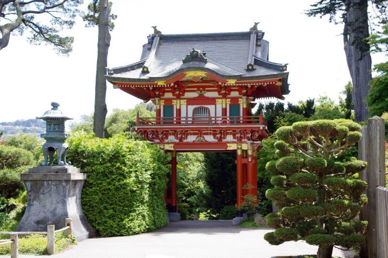 Japanse theetuin stock afbeelding