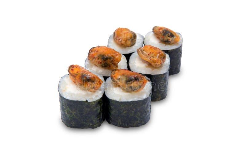 Japanse traditionele die keukenbroodjes op witte achtergrond worden geïsoleerd stock afbeeldingen
